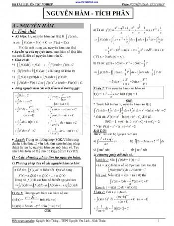 Chuyên đề tích phân ôn thi đại học