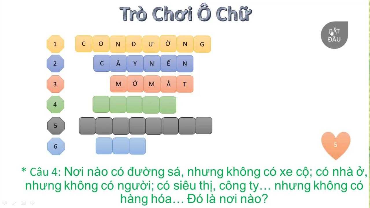 Góc thư giãn - Trò chơi ô chữ 1